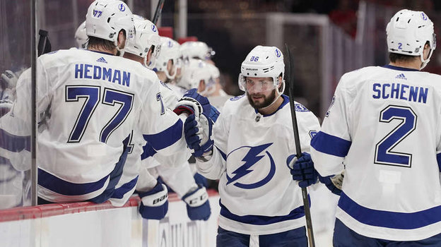 Никита Кучеров забросил 200-ю шайбу вНХЛ. Фото НХЛ