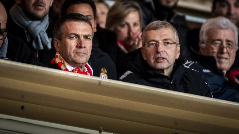 Вице-президент «Монако» Олег Петров (слева) ивладелец клуба Дмитрий Рыболовлев. Фото ФК «Монако»
