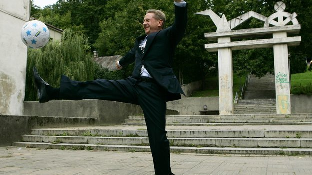 Сентябрь 2006 года. Каунас. Владелец шотландского «Хартс» Владимир Романов. Фото Reuters
