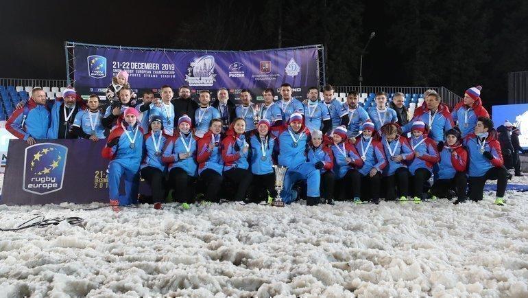 Мужская иженская сборные России стали первыми вистории чемпионами Европы порегби наснегу. Фото Анастасия Осипова