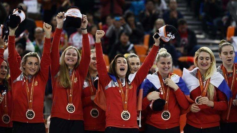 Женская сборная России погандболу завоевала бронзу наЧМ-2019. Фото AFP