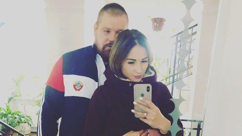 Вячеслав Дацик сосвоей супругой. Фото Instagram