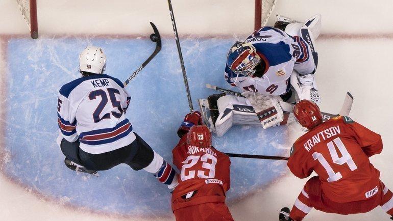 Россия против США иКанады— вгруппе МЧМ-2020. Фото AFP