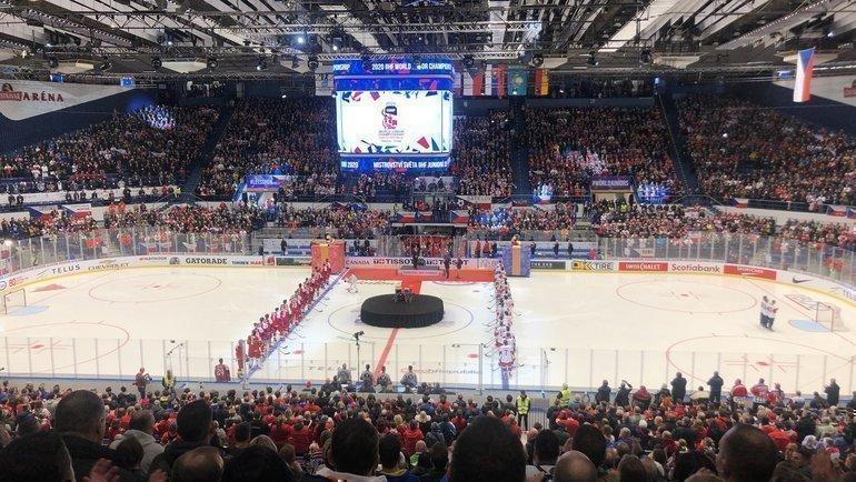 Россия проиграла Чехии встартовом матче МЧМ. Фото https://twitter.com/IIHFHockey