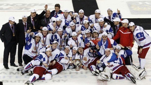 Сборная России празднует победу. Фото Reuters