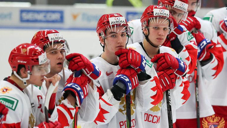Россия может непопасть вплей-офф МЧМ, если проиграет Канаде иСША. Фото ФХР