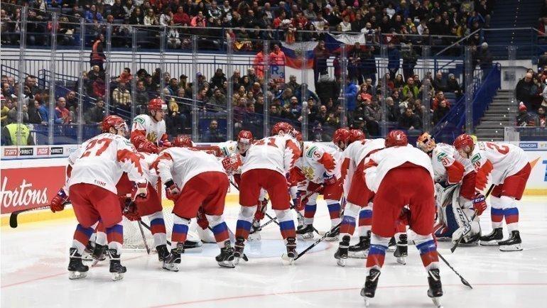 Молодежная сборная России. Фото iihf.com.