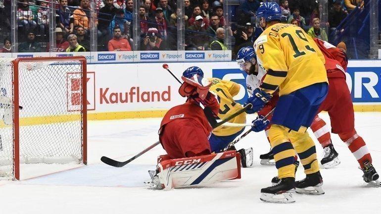 2января. Острава. Швеция— Чехия— 5:0. Хозяева МЧМ-2020 ничего несмогли поделать содним изфаворитов турнира. Фото IIHF