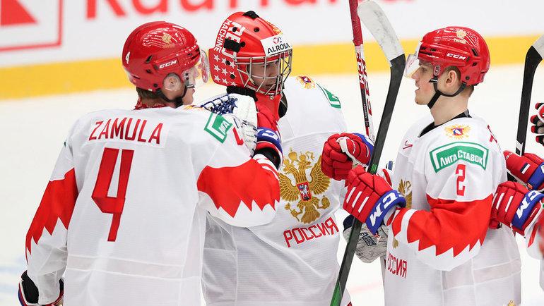 4января сборная России сыграет скомандой Швеции вполуфинале МЧМ-2020. Фото ФХР