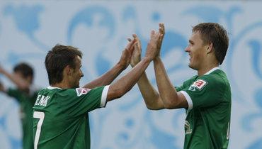 Сергей Семак (слева) иАлександр Бухаров.