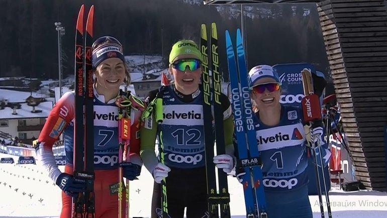 Астрид Якобсен (слева), Аннамари Лампич иДжессика Диггинс. Фото vk.com/russianskiteam