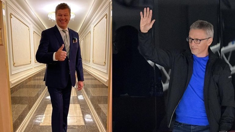 Игорь Ларионов (справа) возмутился показом финала МЧМ-2011 вовремя решающей игры молодежной сборной. Ему ответил Дмитрий Губерниев. Фото instagram.com