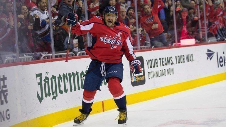Александр Овечкин вышел на11-е место поголам вистории НХЛ. Фото RDS