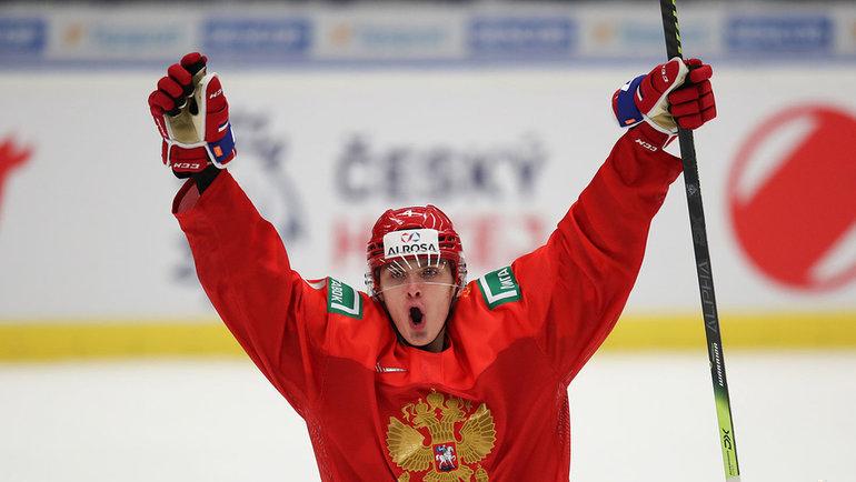 Защитник молодежной сборной России Егор Замула. Фото ФХР