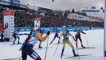 Норвегия выиграла женскую эстафету вОберхофе, россиянки— седьмые