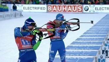 Россия стала четвертой вмужской эстафете вОберхофе, победила Норвегия
