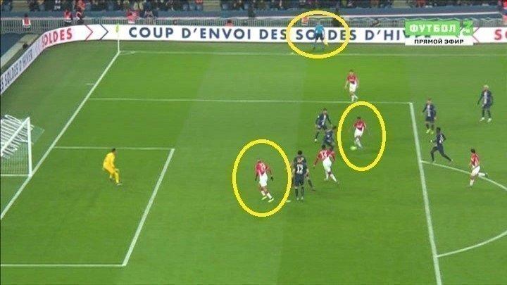 Эпизод матча «ПСЖ»— «Монако» (3:3).