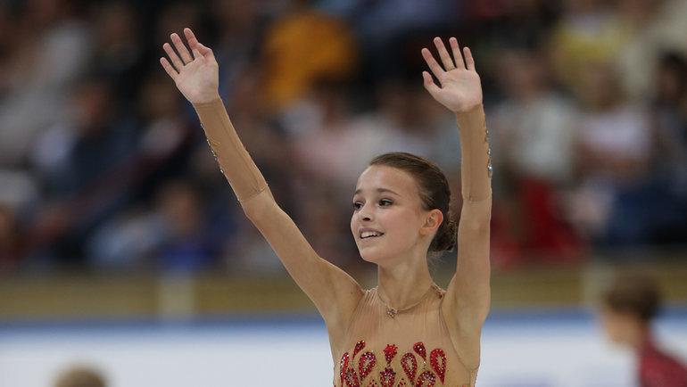 Двукратная чемпионка России 15-летняя Анна Щербакова. Фото Александр Федоров, «СЭ» / Canon EOS-1D X Mark II