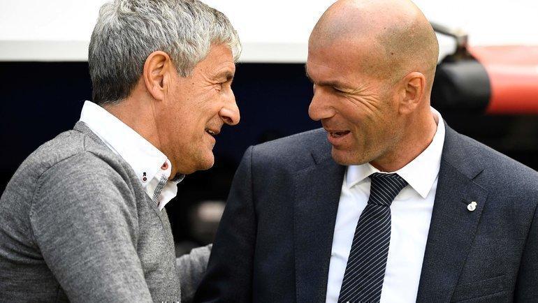 Кике Сетьен иглавный тренер «Реала» Зинедин Зидан. Фото AFP
