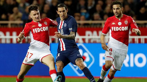 Монако— ПСЖ— 1:4, чемпионат Франции, лига 1, Головин, Мбаппе, Неймар, уМонако нехватило сил