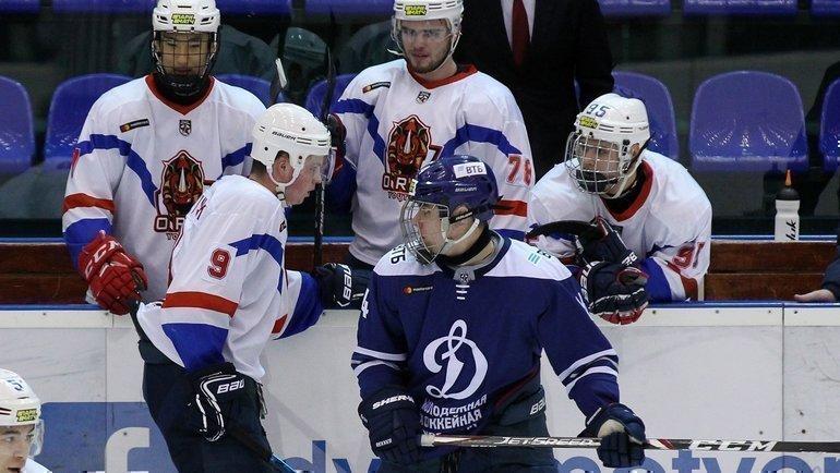 ОРДЖИ обыграл молодежное «Динамо» ипрервал серию поражений из46 матчей. Фото МХК «Динамо»