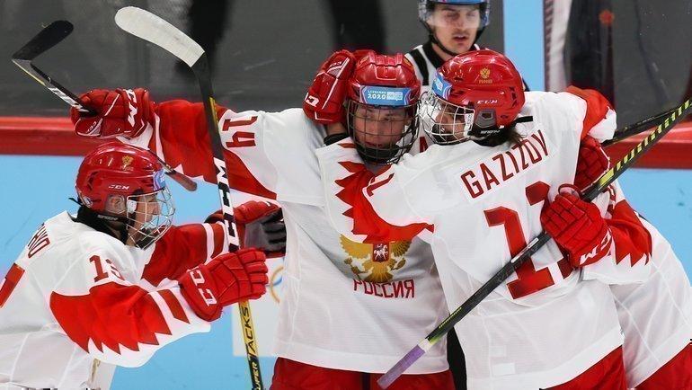 Сборная России победила Канаду наюношеских Олимпийских играх. Фото ФХР, twitter.com/russiahockey