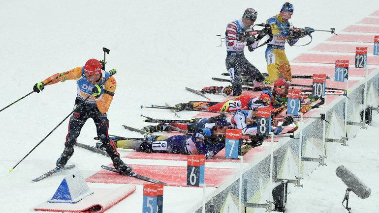 18января. Рупольдинг. Мужская сборная России заняла четвертое место вэстафете. Фото AFP