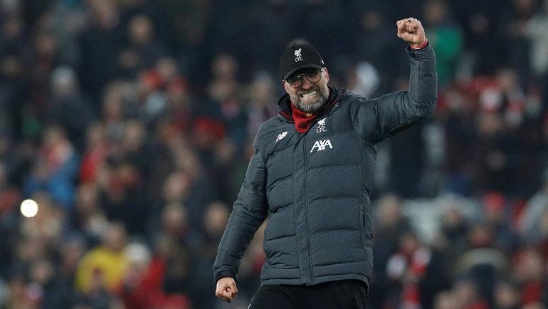 19января. Ливерпуль. «Ливерпуль»— «Манчестер Юнайтед»— 2:0. Юрген Клопп. Фото Reuters