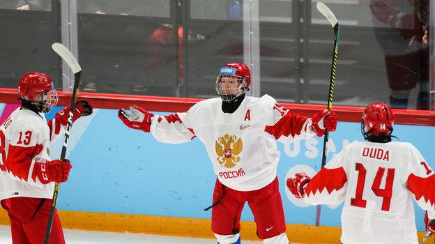 Сборная России разгромила Данию наюношеской Олимпиаде. Фото ФХР, fhr.ru