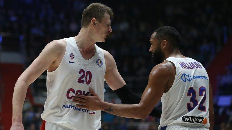 Зенит— ЦСКА— 63:82. Игроки ЦСКА. Фото https://twitter.com/cskabasket