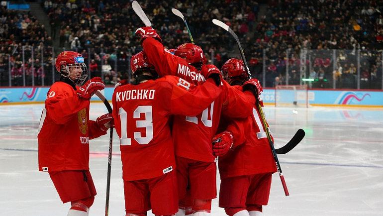 Сборная России выиграла ЮОИ. Фото ФХР