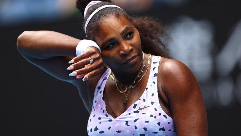 24января. Мельбурн. Серена Уильямс уступила Ван Цян втретьем круге Australian Open. Фото AFP