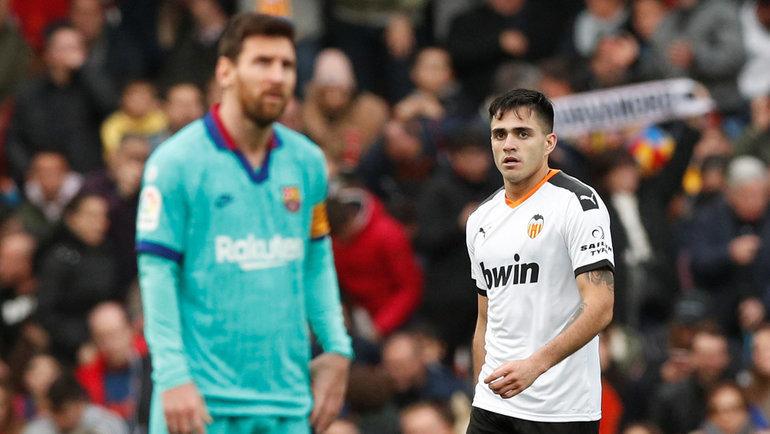 25 января. Валенсия. «Валенсия» — «Барселона» — 2:0. Лионель Месси (слева) и Макси Гомес. Фото Reuters