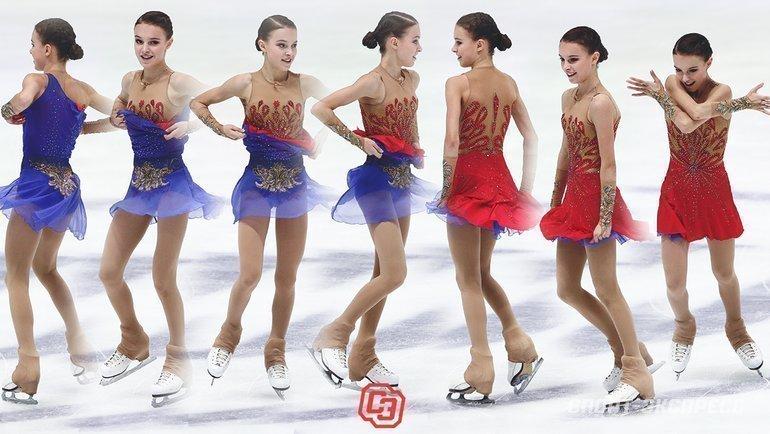 Как меняется платье Анны Щербаковой впроизвольной программе. Фото Дарья Исаева, «СЭ» / Canon EOS-1D X Mark II