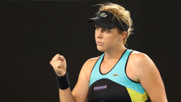 Анастасия Павлюченкова обыграла Ангелик Кербер натурнире Australian Open. Фото twitter.com/AustralianOpen