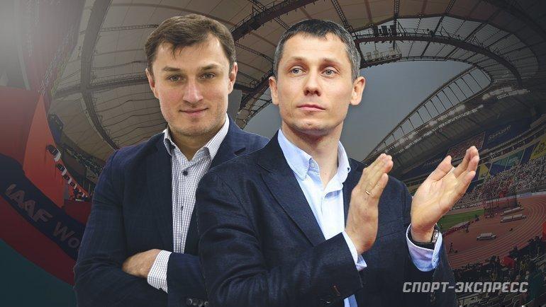 "Эдуард Безуглов (слева) иЮрий Борзаковский. Фото ""СЭ"""