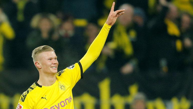 Эрлин Холанн— 5 голов в2 матчах за «Боруссию». Фото Reuters