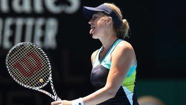 29января. Мельбурн. Анастасия Павлюченкова проиграла Гарбинье Мугурусе вчетвертьфинале Australian Open.