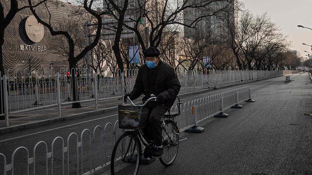 Опустевшие улицы китайской столицы вянваре 2020 года. Фото AFP