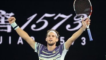 Надаль уступил Тиму вчетвертьфинале Australian Open
