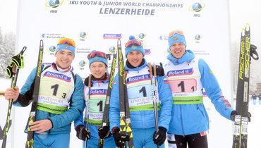 Россияне победили вмужской эстафете наюниорском чемпионате мира.