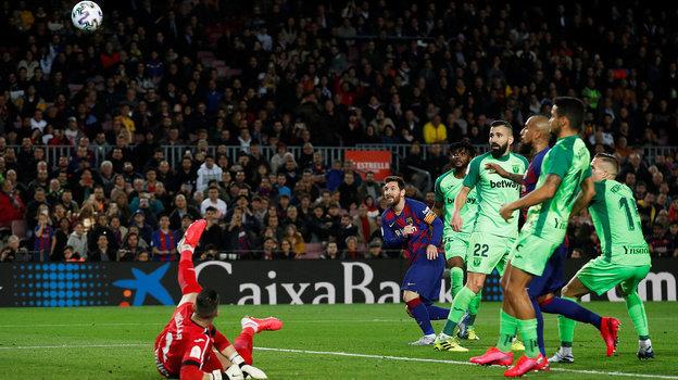 30января. «Барселона»— «Леганес»— 5:0. Лионель Месси забивает второй гол.