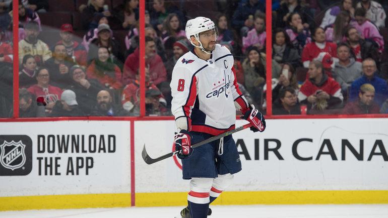 31января. Оттава. «Оттава»— «Вашингтон»— 3:5. Александр Овечкин. Фото USA TODAY Sports