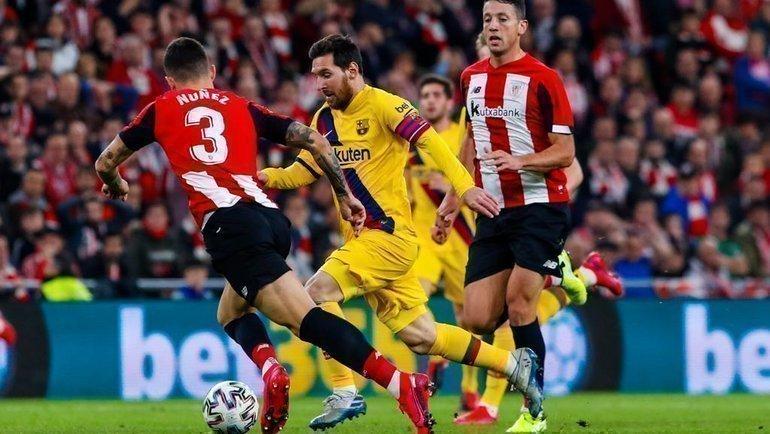 6февраля. Бильбао. «Атлетик»— «Барселона»— 1:0. Лионель Месси ватаке. Фото Пресс-служба «Барселоны»