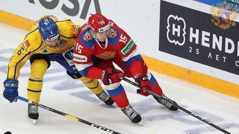 Швеция— Россия. Фото Фото: ФХР.