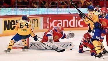 8февраля. Стокгольм. Швеция— Россия— 5:2. Россияне потерпели второе поражение врамках шведского этапа Евротура.