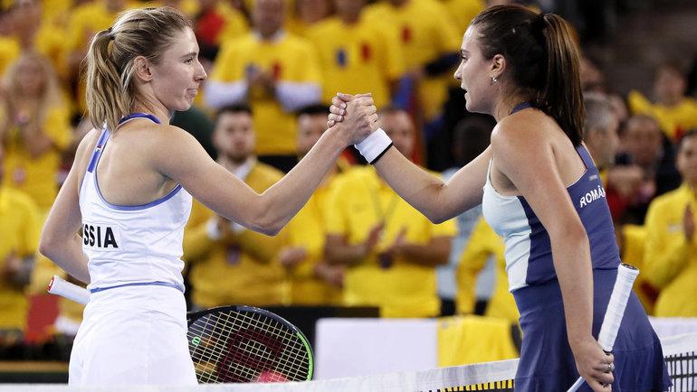 Екатерина Александрова иЕлена Габриэла Русе. Фото Fed Cup