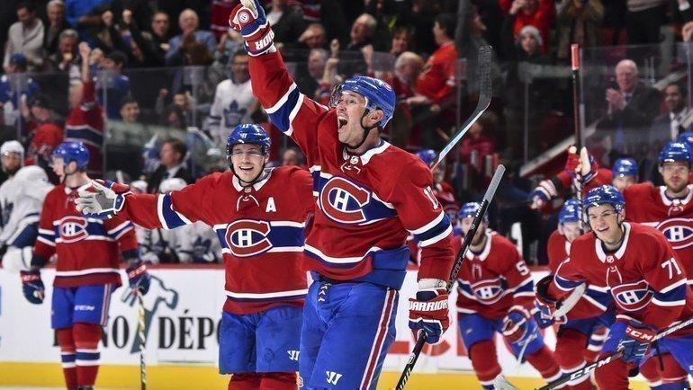 Илья Ковальчук празднует победную шайбу вворота «Торонто» (2:1 ОТ). Фото twitter.com/CanadiensMTL