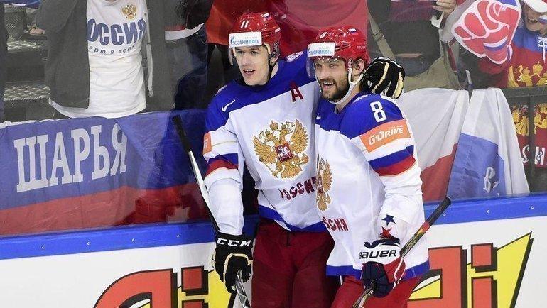 Евгений Малкин иАлександр Овечкин. Фото AFP