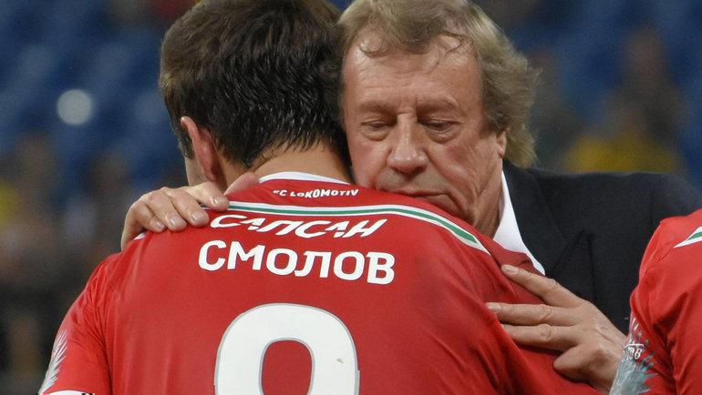 Федор Смолов (слева) иЮрий Семин. Фото Григорий Бочкарев